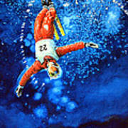 The Aerial Skier 20 Art Print