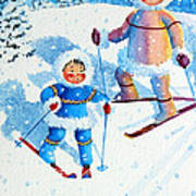 The Aerial Skier - 6 Art Print