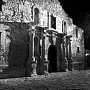 The Alamo At Night Art Print