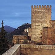The Alcazaba The Alhambra Art Print