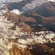 The Alps, Aerial Photograph Art Print