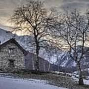 The Alps In Winter Art Print
