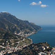 The Amalfi Coast From Ravello Art Print