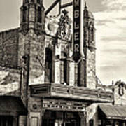 The Ambler Theater In Sepia Art Print
