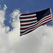 The American Flag Blowing In The Breeze Art Print