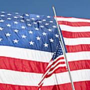 The American Flag Hangs Art Print