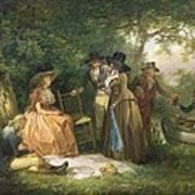 The Angler's Repast  Art Print by George Morland