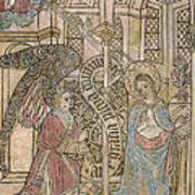 The Annunciation, Depicting Art Print