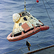 The Apollo 8 Capsule Being Hoisted Art Print