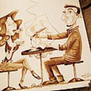 The Artist - Coffee Art Art Print