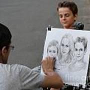 The Artist At Bethesda Fountain Art Print