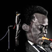 The Back And The Affront Of Miles Davis Art Print
