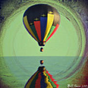 The Balloon And The Sea Art Print