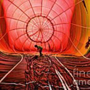 The Balloonist - Inside A Hot Air Balloon Art Print