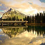 The Banff Bridge Reflected Art Print