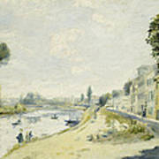 The Banks Of The Seine At Bougival Art Print