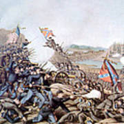 The Battle Of Franklin, November 30 Print by Everett