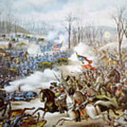 The Battle Of Pea Ridge, Arkansas Art Print by Everett