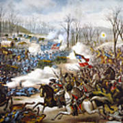 The Battle Of Pea Ridge, Art Print
