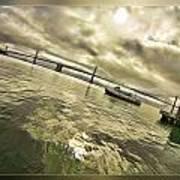 The Bay Bridge Cruz Art Print