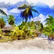 The Beach 01 Art Print