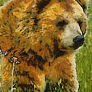The Bear Painterly Art Print