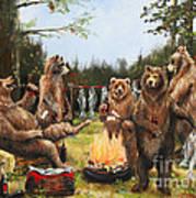 The Bear Party Art Print