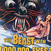 The Beast With A Million Eyes, 1955 Art Print by Everett