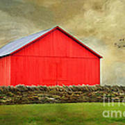 The Big Red Barn Art Print by Darren Fisher