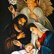 The Birth Of Christ    Feliz Navidad Art Print