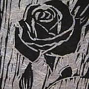 The Black Rose Art Print