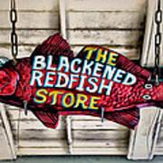 The Blackened Redfish Store Art Print