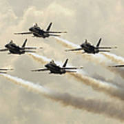 The Blue Angels Perform Their Delta Art Print