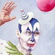 The Blue Clown Art Print