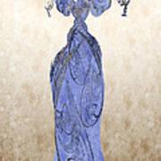 The Blue Dress Art Print