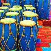 The Blue Drums Art Print