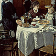 The Breakfast Art Print by Claude Monet