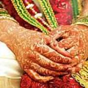 The Bride's Hands Art Print
