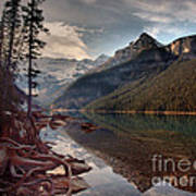 The Calm At Lake Louise Art Print