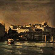 The Canal Venice Art Print