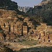 The Caves And Tombs Of Petra, Shown Art Print