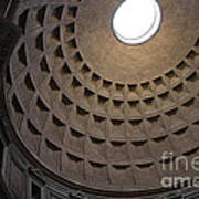 The Ceiling Of The Pantheon Art Print by Chris Hill