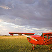 The Cessna Makes A Pit Stop To Refuel Art Print