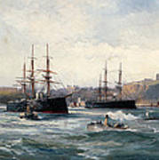 The Channel Fleet Off Scarborough Art Print