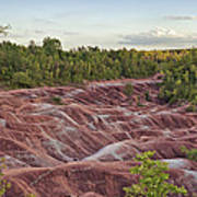 The Cheltenham Badlands Art Print