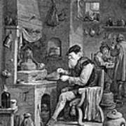 The Chemist, 17th Century Art Print