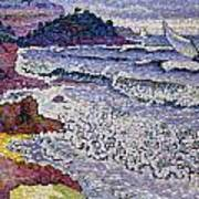 The Choppy Sea Print by Henri-Edmond Cross