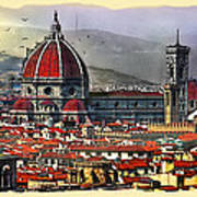 The City Of Florence Art Print
