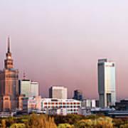 The City Of Warsaw Art Print