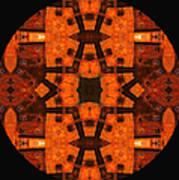 The Color Orange Mandala Abstract Art Print
